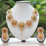 Green Maroon Nayan tara necklace set