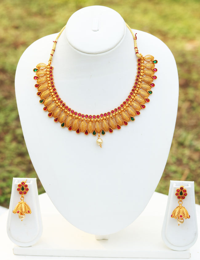 Smarty *Matte Finish* Multicolor Short Necklace Set