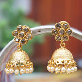 Latest Antique Gold Plated Traditional Pearl Jhumki Earring