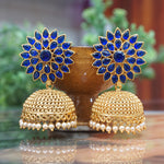 Fashion Latest Design Stylish Antique Gold Plated Party Wear Traditional Pearl Jhumki Earrings
