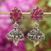 Maroon Color Small Jhumka Earring