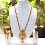 Gold Plated Mango Pendent Style Necklace With Jhumki