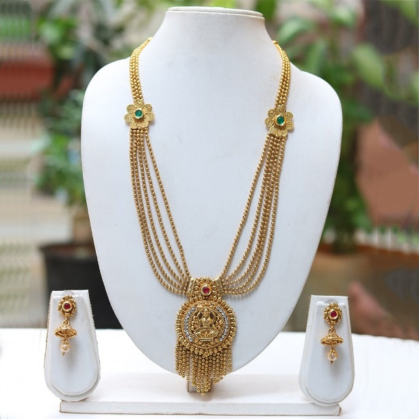 Amazing Look 5 Layer Laxmi Necklace Set