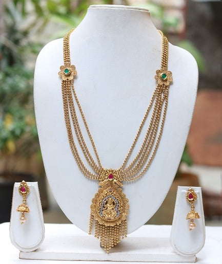 Amazing 5 Layer Laxmi Necklace Set