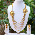 Stylish 5 String Gold Plated Necklace Set