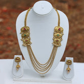 Eagg Shape Stylish 5 String Gold Plated Necklace Set
