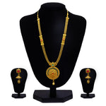 Look Ethnic Gold Plated Long Necklace For Women (LEMZL00029)