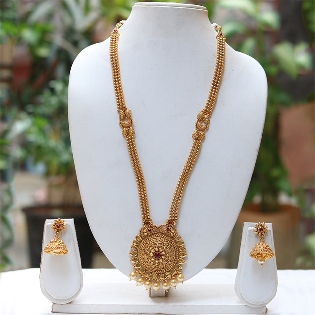 Amazing Long Pendant Style Necklace Set
