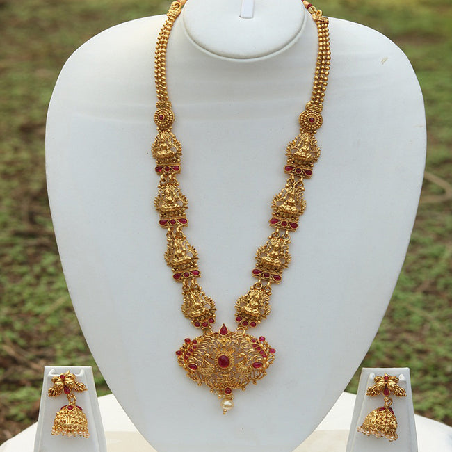 Laxmi Peacock pendent necklace set