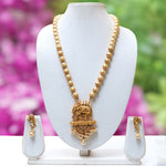 Beautiful Golden Elephant Long Necklace Set