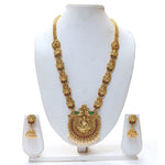 Look Ethnic Gold Plated Long Necklace For Women (LEMZL00049)