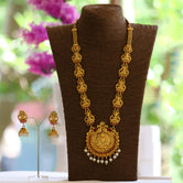 Look Ethnic Gold Plated Long Necklace For Women (LEMZL00050)