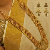 Look Ethnic Gold Plated Long Necklace For Women (LEMZL00051)