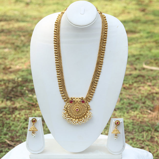 Inspired Gold Plated Peacock Necklace Set