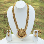 Traditional Gold Plated Long Haram Necklace Set