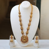 Amazing Gold Plated Long Haram Necklace Set