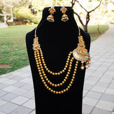 Marvelous Design One Side Pendal Long Necklace Set