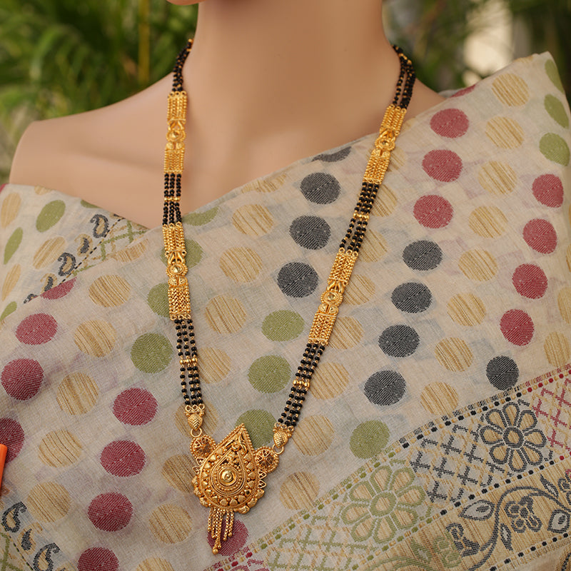 Traditional Gold Designer Chain Artificial Mangalsutra