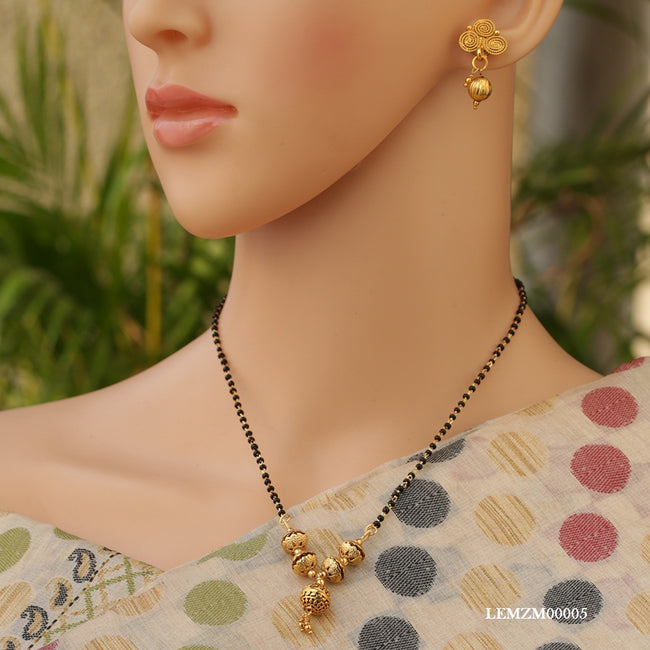 Traditional Simple Look Gold Chain Artificial Mangalsutra