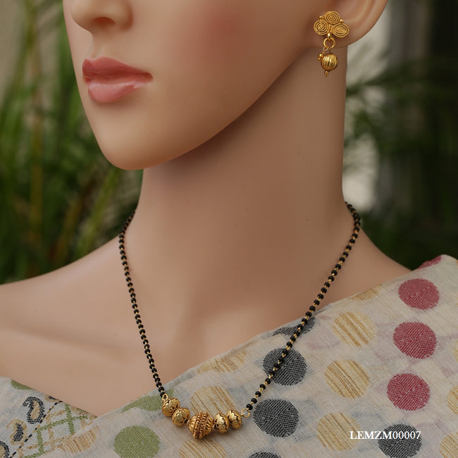 Traditional Single Line Gold Chain Artificial Mangalsutra