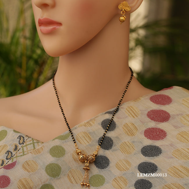 Gold Plated New Look Artificial Mangalsutra