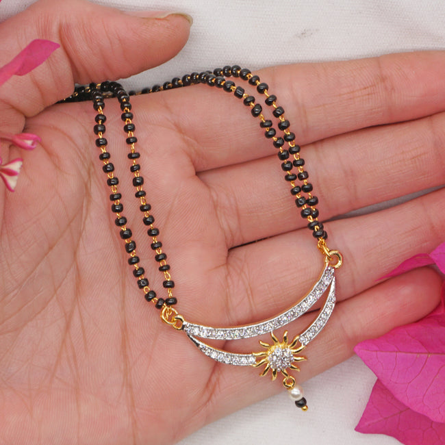 Latest American Diamond Studded Mangalsutra