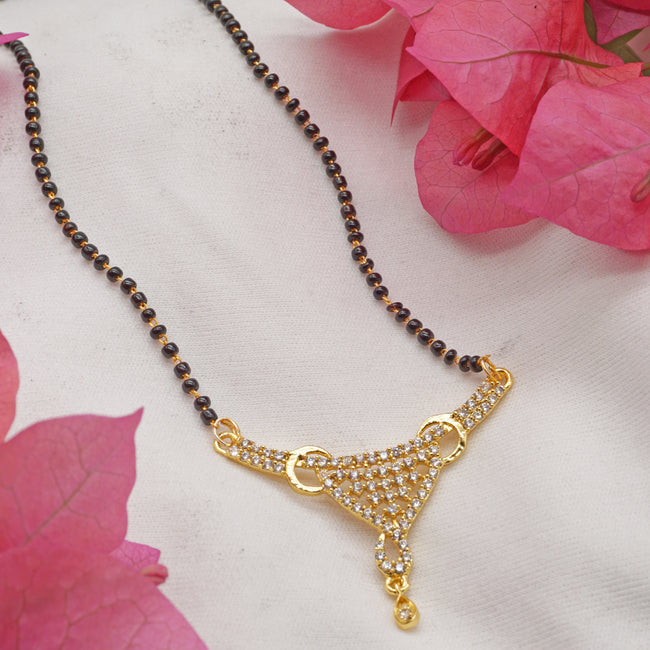 American Diamond Gold Plated Mangalsutra