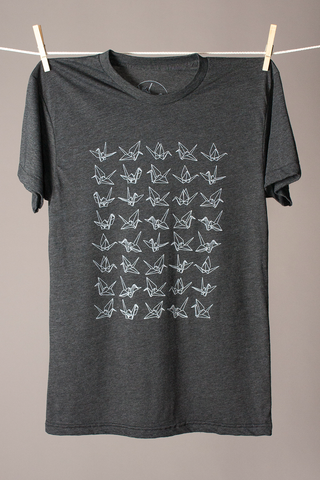 Forty Cranes Tee - Graphite
