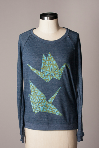 Paper Crane Pullover - Navy