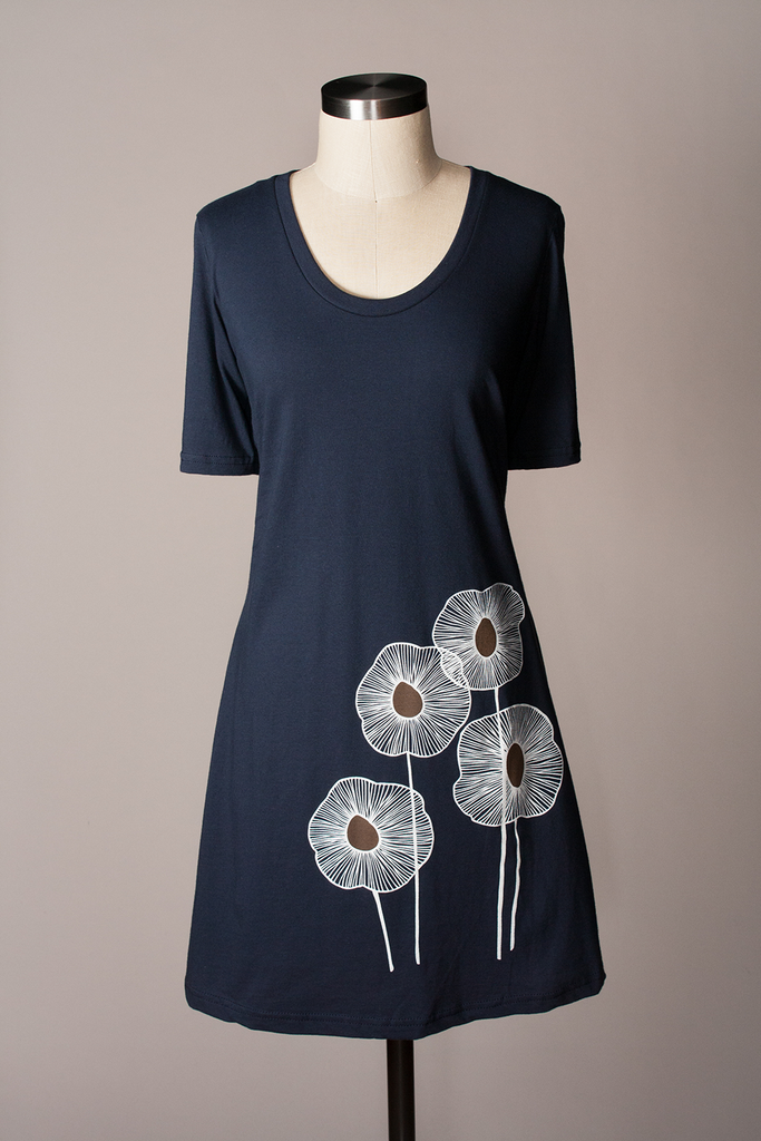 Pineapple Dress - Navy