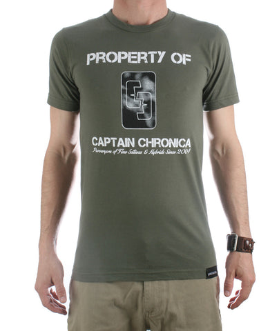 Property Of Captain Chronica T-shirt