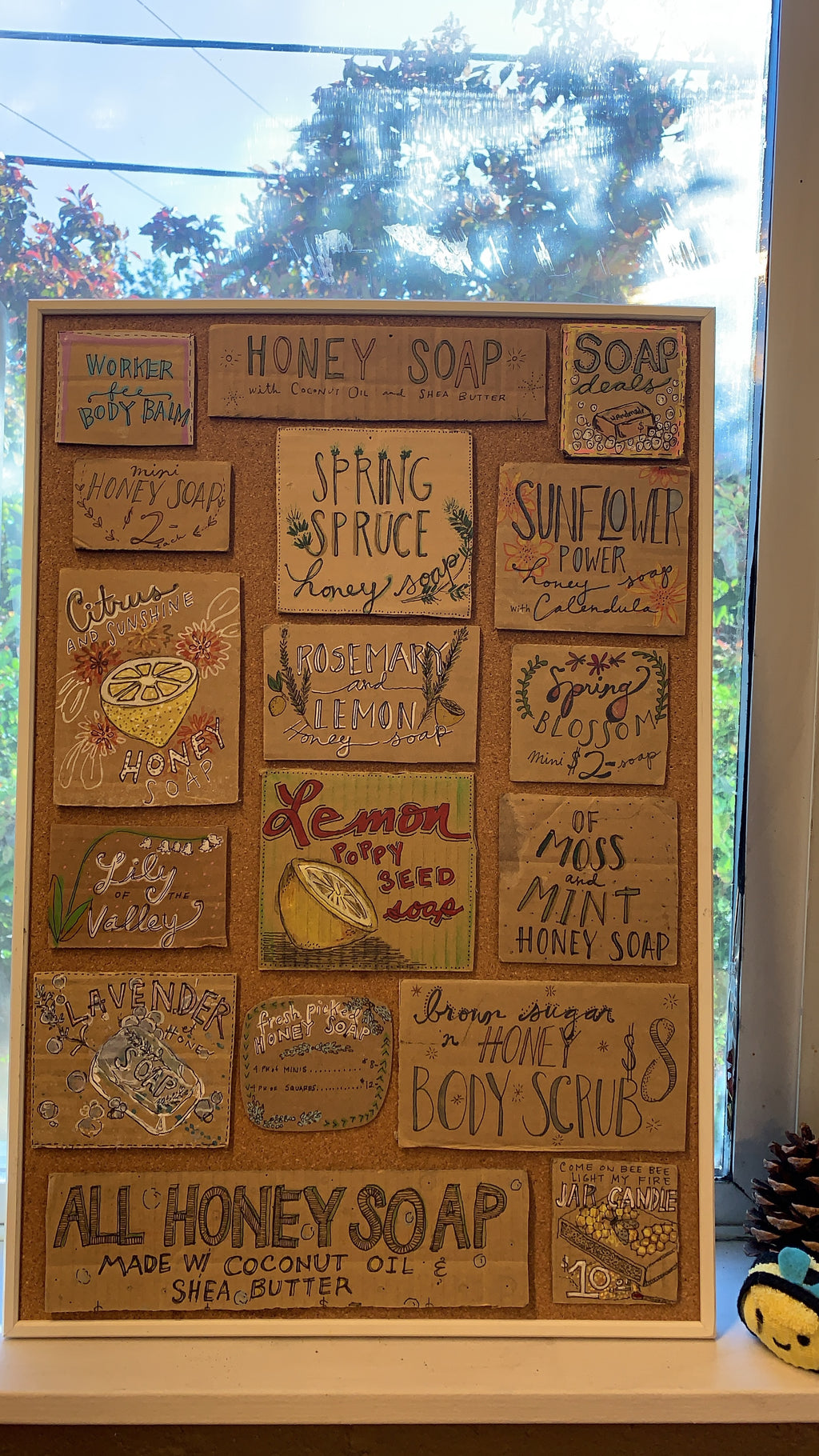 Honey and soap sign posters!