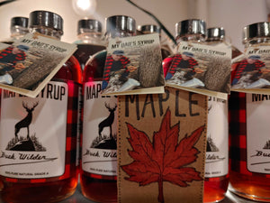 Certified Organic Maple Syrup made by our Dad!