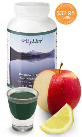E3 Live Blue Green Algae Fresh Frozen 16 oz 6 PACK DISCOUNT: FLAVORED Apple/Lemon