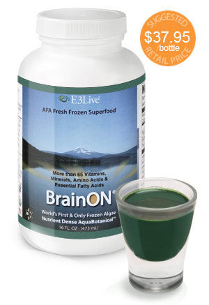 E3 Live Blue Green Algae + BrainON Fresh Frozen 16 oz 6 PACK DISCOUNT