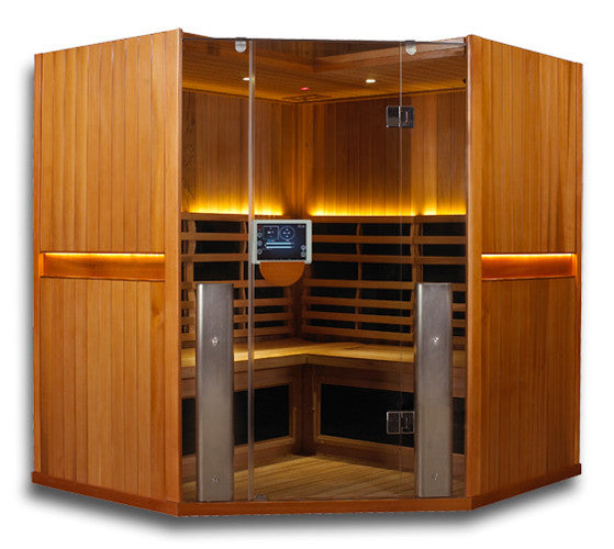 Clearlight Sanctuary C: 4 Person Full Spectrum Infrared Corner Sauna SAVE $600 + FREE SHIPPING