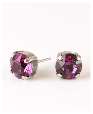 Single Stone Ear Post Earring - Multiple Colors