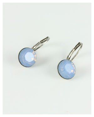 Single Stone Drop Earrings Small - Multiple Colors