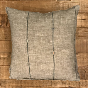 Fatima Gunmetal 22x22 Pillow