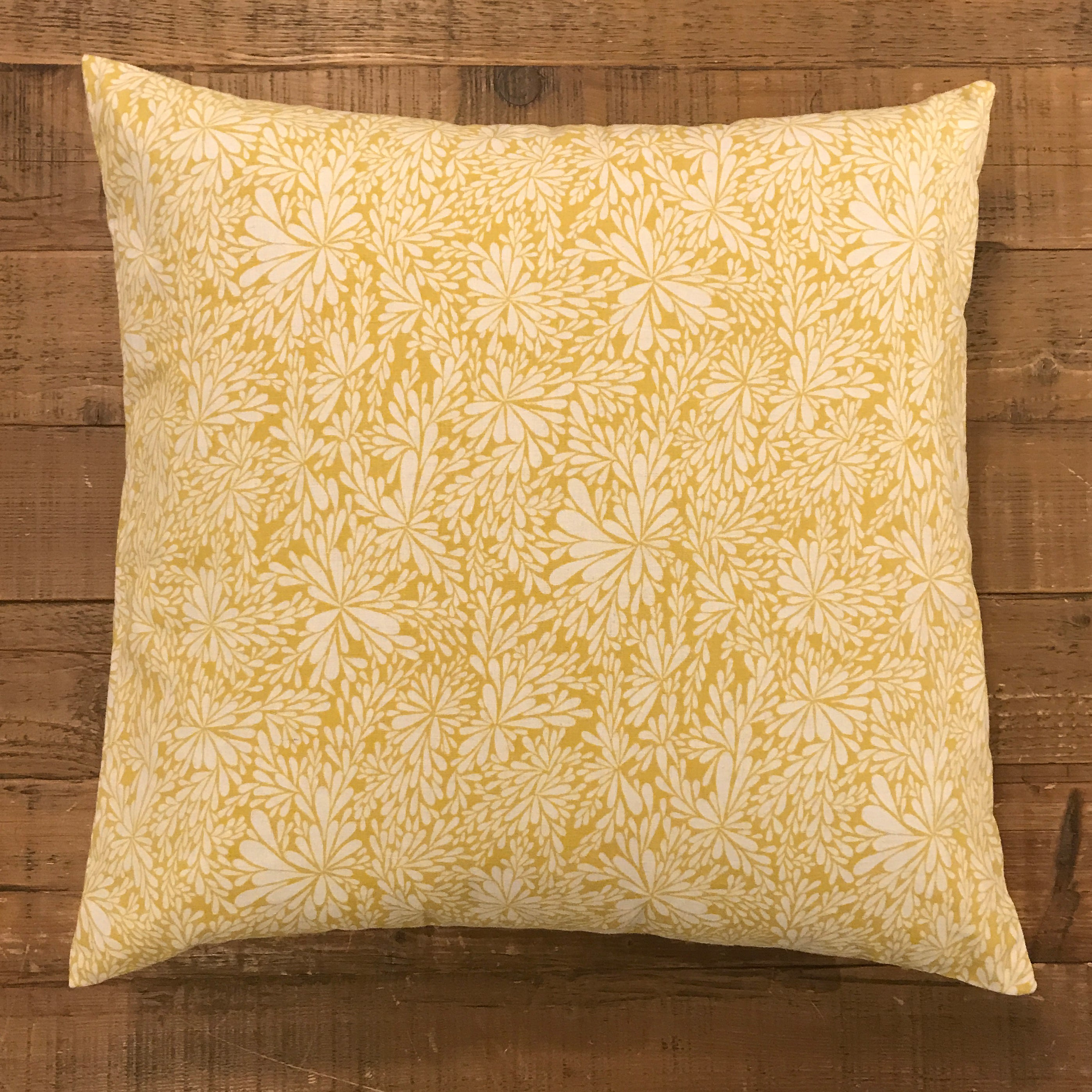 20x20 One of a kind pillow - Yellow floral