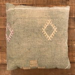 22x22 Vintage Cactus Pillow - Green