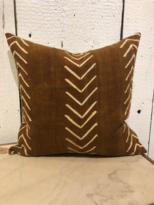 Vintage Mudcloth - 20x20 Pillow - Brown