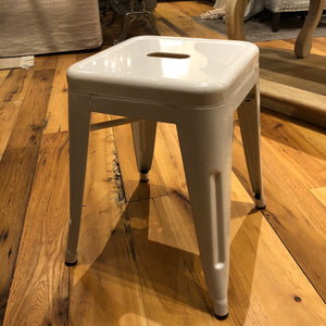 Mini Industrial Stool- white