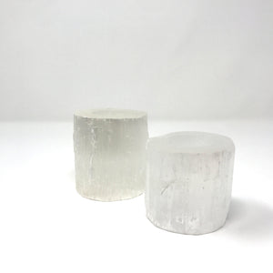 Selenite Cylinder Candle Votive - Small