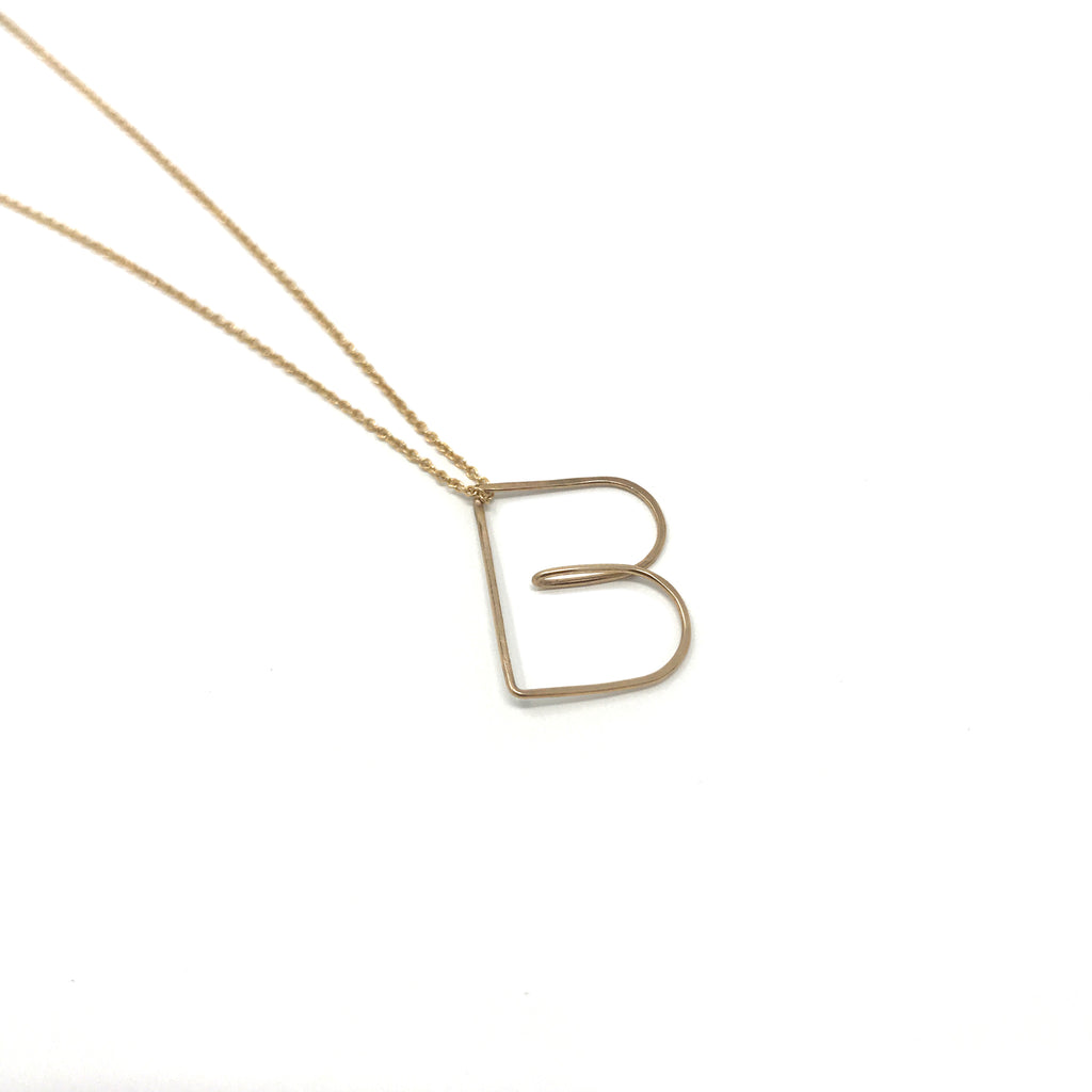 Bubble Letter Necklace - Gold