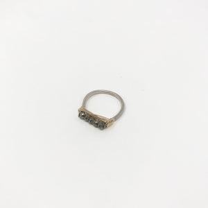 Silver Wire Gemstone Rings - Pyrite