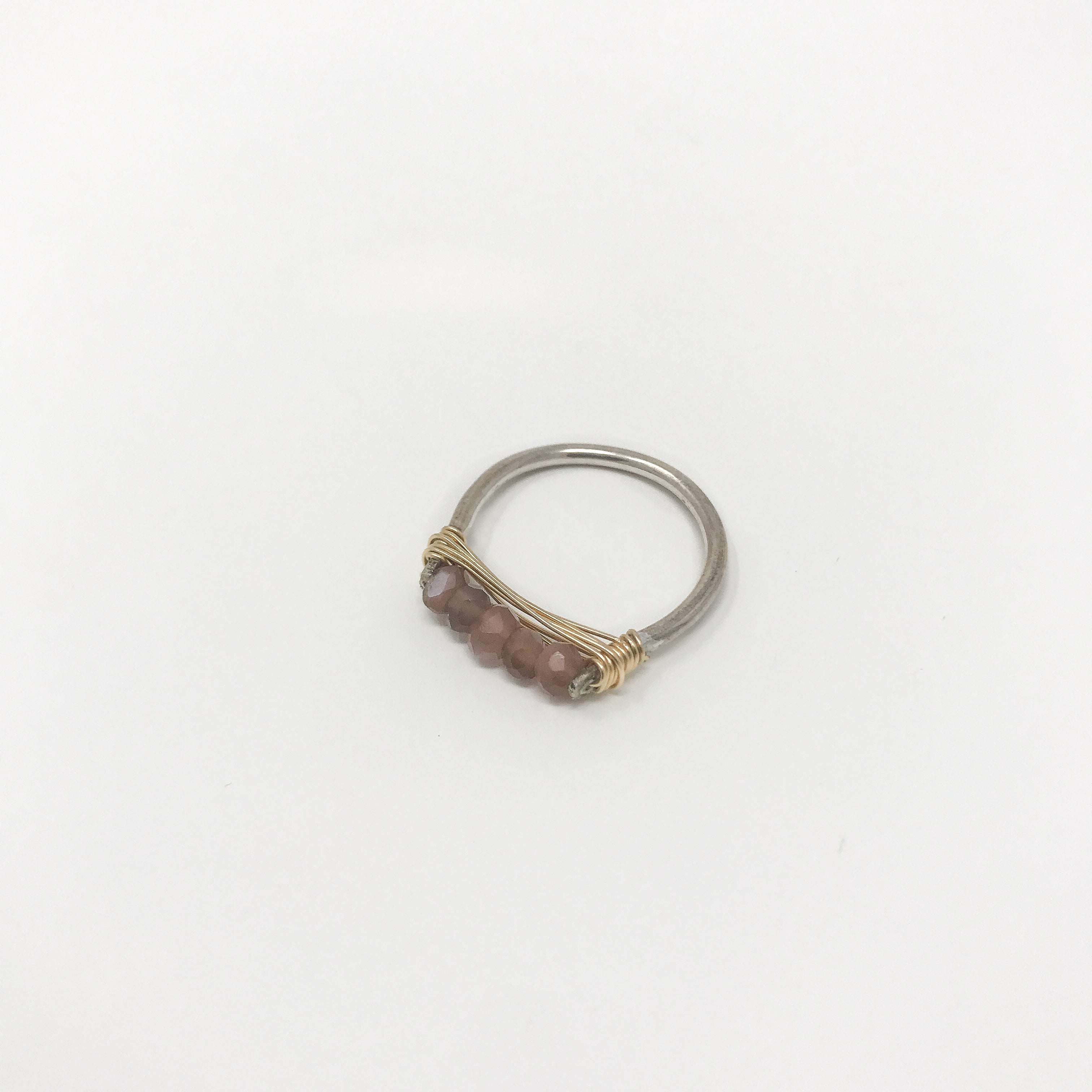 Silver Wire Gemstone Rings - Chocolate Moon