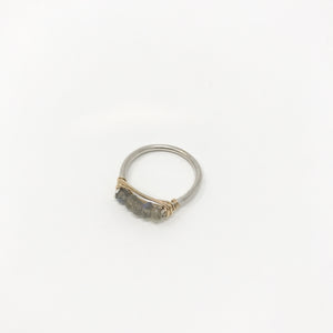 Silver Wire Gemstone Rings - Labordite