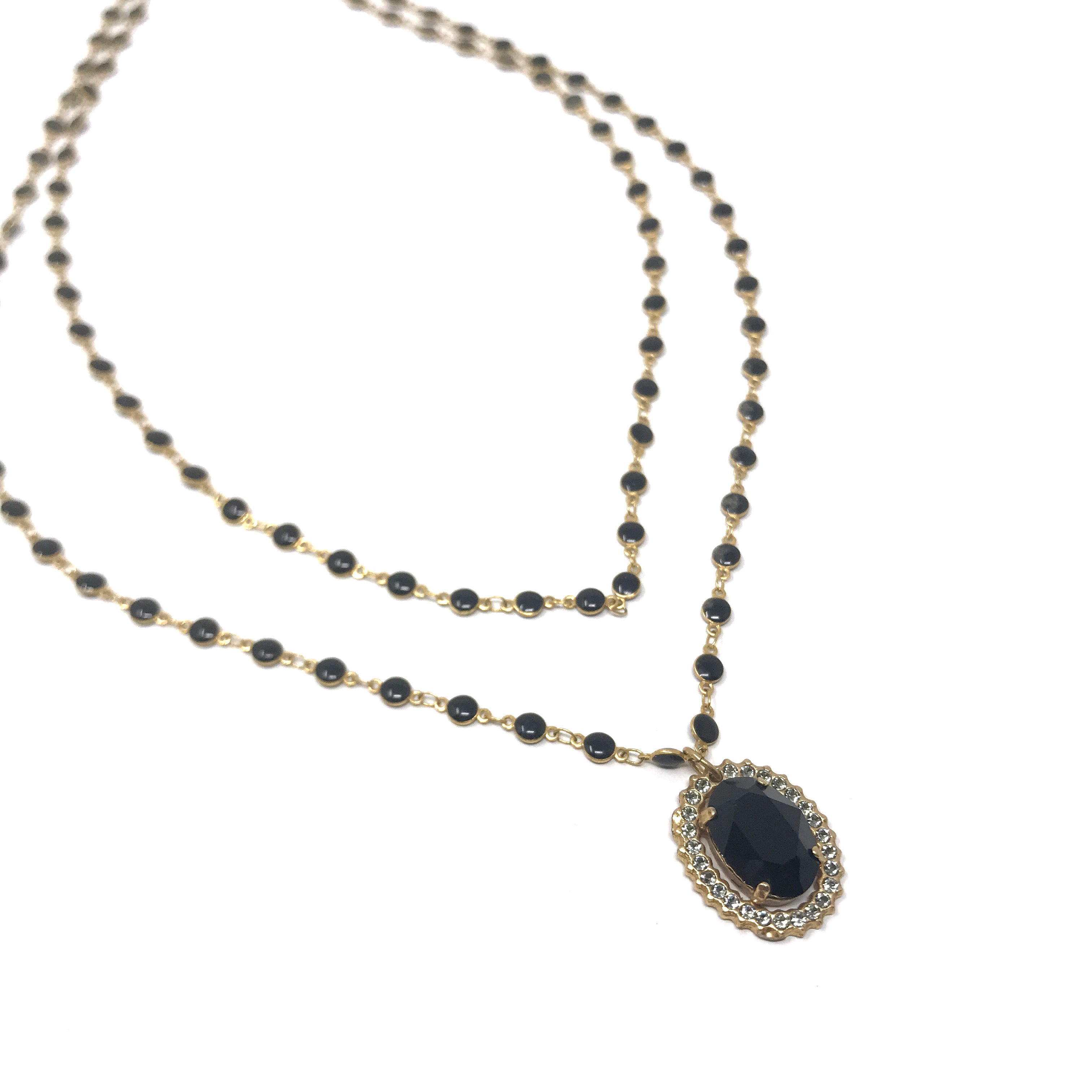 Crystal Onyx Necklace