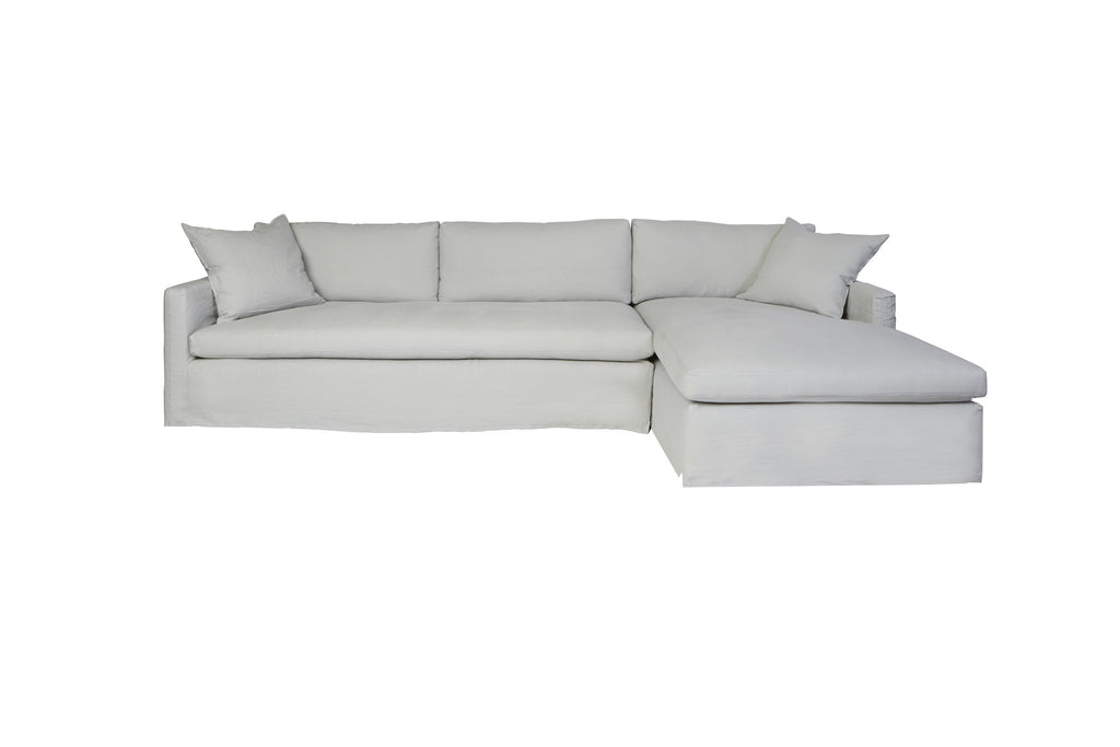Louis 2 Piece Sectional - Brevard Oatmeal